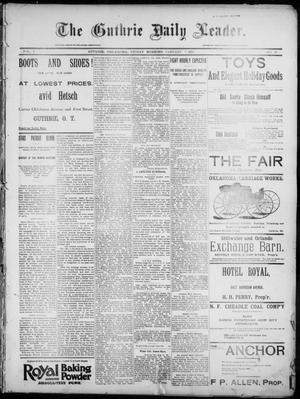 Primary view of object titled 'The Guthrie Daily Leader. (Guthrie, Okla.), Vol. 7, No. 20, Ed. 1, Friday, January 3, 1896'.