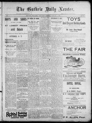 Primary view of object titled 'The Guthrie Daily Leader. (Guthrie, Okla.), Vol. 7, No. 21, Ed. 1, Saturday, January 4, 1896'.