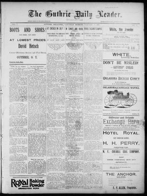 Primary view of object titled 'The Guthrie Daily Leader. (Guthrie, Okla.), Vol. 7, No. 33, Ed. 1, Saturday, January 18, 1896'.