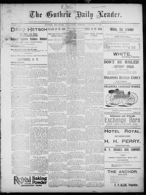 Primary view of object titled 'The Guthrie Daily Leader. (Guthrie, Okla.), Vol. 7, No. 41, Ed. 1, Wednesday, January 29, 1896'.