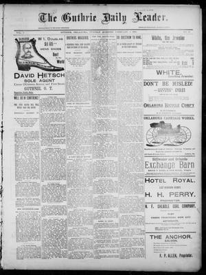 Primary view of object titled 'The Guthrie Daily Leader. (Guthrie, Okla.), Vol. 7, No. 46, Ed. 1, Tuesday, February 4, 1896'.