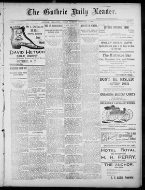 Primary view of object titled 'The Guthrie Daily Leader. (Guthrie, Okla.), Vol. 7, No. 49, Ed. 1, Friday, February 7, 1896'.