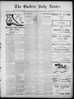 Primary view of object titled 'The Guthrie Daily Leader. (Guthrie, Okla.), Vol. 7, No. 50, Ed. 1, Saturday, February 8, 1896'.