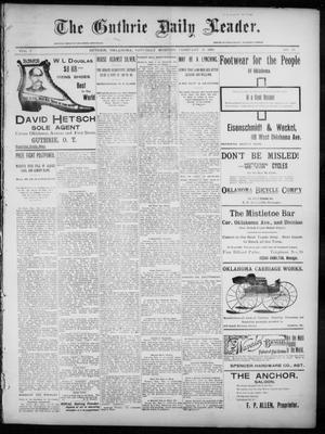 Primary view of object titled 'The Guthrie Daily Leader. (Guthrie, Okla.), Vol. 7, No. 56, Ed. 1, Saturday, February 15, 1896'.