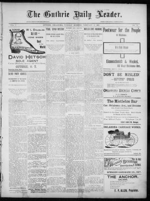 Primary view of object titled 'The Guthrie Daily Leader. (Guthrie, Okla.), Vol. 7, No. 58, Ed. 1, Tuesday, February 18, 1896'.