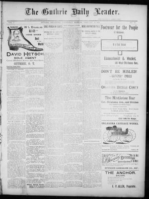 Primary view of object titled 'The Guthrie Daily Leader. (Guthrie, Okla.), Vol. 7, No. 59, Ed. 1, Wednesday, February 19, 1896'.