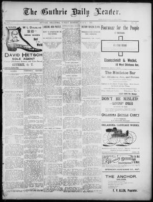 Primary view of object titled 'The Guthrie Daily Leader. (Guthrie, Okla.), Vol. 7, No. 69, Ed. 1, Sunday, March 1, 1896'.