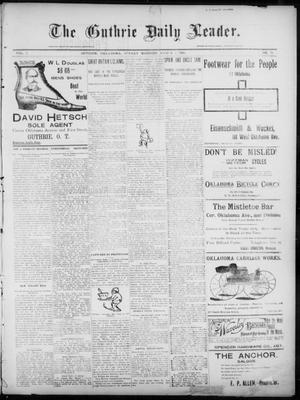 Primary view of object titled 'The Guthrie Daily Leader. (Guthrie, Okla.), Vol. 7, No. 75, Ed. 1, Sunday, March 8, 1896'.
