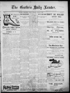 Primary view of object titled 'The Guthrie Daily Leader. (Guthrie, Okla.), Vol. 7, No. 79, Ed. 1, Friday, March 13, 1896'.