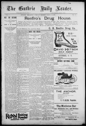 Primary view of object titled 'The Guthrie Daily Leader. (Guthrie, Okla.), Vol. 7, No. 88, Ed. 1, Tuesday, March 24, 1896'.