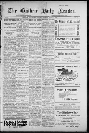 Primary view of object titled 'The Guthrie Daily Leader. (Guthrie, Okla.), Vol. 7, No. 99, Ed. 1, Sunday, April 5, 1896'.