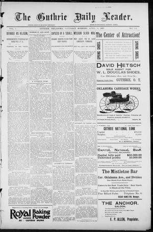 Primary view of object titled 'The Guthrie Daily Leader. (Guthrie, Okla.), Vol. 7, No. 104, Ed. 1, Saturday, April 11, 1896'.