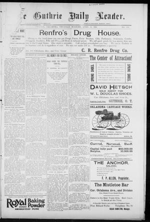Primary view of object titled 'The Guthrie Daily Leader. (Guthrie, Okla.), Vol. 7, No. 108, Ed. 1, Thursday, April 16, 1896'.