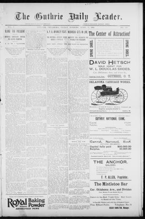 Primary view of object titled 'The Guthrie Daily Leader. (Guthrie, Okla.), Vol. 7, No. 109, Ed. 1, Friday, April 17, 1896'.