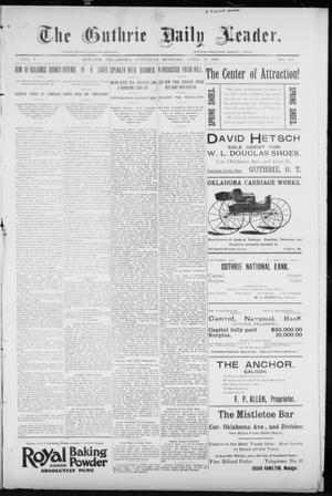 Primary view of object titled 'The Guthrie Daily Leader. (Guthrie, Okla.), Vol. 7, No. 110, Ed. 1, Saturday, April 18, 1896'.