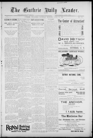 Primary view of object titled 'The Guthrie Daily Leader. (Guthrie, Okla.), Vol. 7, No. 114, Ed. 1, Thursday, April 23, 1896'.