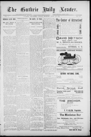 Primary view of object titled 'The Guthrie Daily Leader. (Guthrie, Okla.), Vol. 7, No. 115, Ed. 1, Friday, April 24, 1896'.