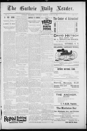 Primary view of object titled 'The Guthrie Daily Leader. (Guthrie, Okla.), Vol. 7, No. 116, Ed. 1, Saturday, April 25, 1896'.