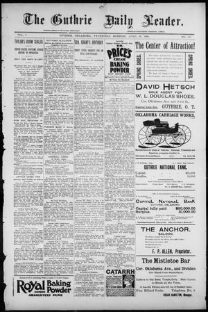 Primary view of object titled 'The Guthrie Daily Leader. (Guthrie, Okla.), Vol. 7, No. 119, Ed. 1, Wednesday, April 29, 1896'.