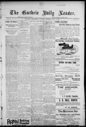 Primary view of object titled 'The Guthrie Daily Leader. (Guthrie, Okla.), Vol. 7, No. 122, Ed. 1, Saturday, May 2, 1896'.