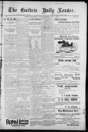 Primary view of object titled 'The Guthrie Daily Leader. (Guthrie, Okla.), Vol. 7, No. 124, Ed. 1, Tuesday, May 5, 1896'.