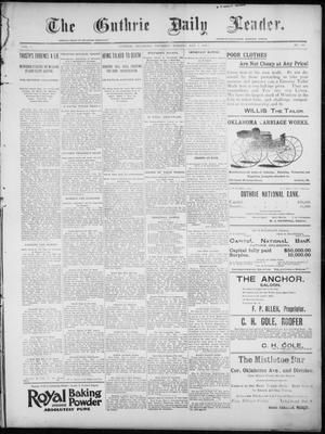 Primary view of object titled 'The Guthrie Daily Leader. (Guthrie, Okla.), Vol. 7, No. 126, Ed. 1, Thursday, May 7, 1896'.