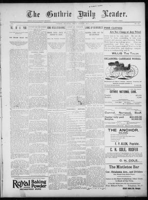 Primary view of object titled 'The Guthrie Daily Leader. (Guthrie, Okla.), Vol. 7, No. 127, Ed. 1, Friday, May 8, 1896'.