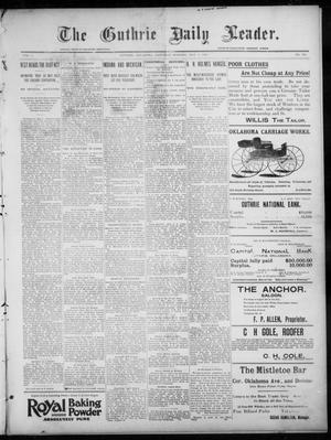 Primary view of object titled 'The Guthrie Daily Leader. (Guthrie, Okla.), Vol. 7, No. 128, Ed. 1, Saturday, May 9, 1896'.