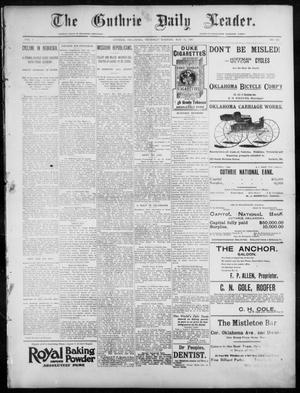 Primary view of The Guthrie Daily Leader. (Guthrie, Okla.), Vol. 7, No. 132, Ed. 1, Thursday, May 14, 1896