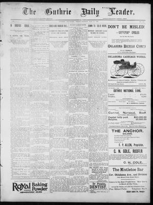 Primary view of object titled 'The Guthrie Daily Leader. (Guthrie, Okla.), Vol. 7, No. 133, Ed. 1, Friday, May 15, 1896'.