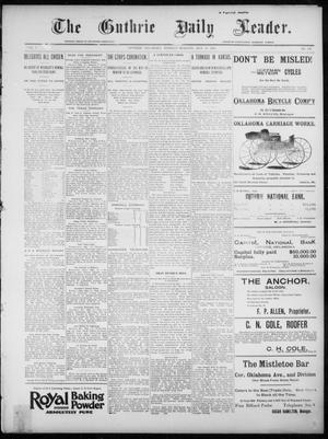 Primary view of object titled 'The Guthrie Daily Leader. (Guthrie, Okla.), Vol. 7, No. 136, Ed. 1, Tuesday, May 19, 1896'.