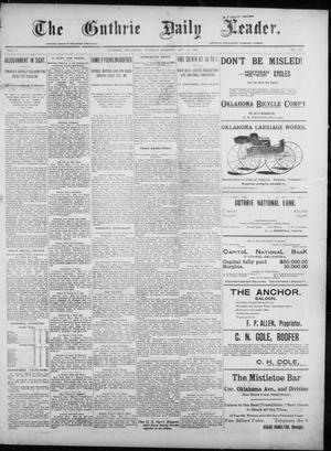 Primary view of object titled 'The Guthrie Daily Leader. (Guthrie, Okla.), Vol. 7, No. 142, Ed. 1, Tuesday, May 26, 1896'.