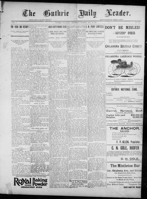 Primary view of object titled 'The Guthrie Daily Leader. (Guthrie, Okla.), Vol. 7, No. 143, Ed. 1, Wednesday, May 27, 1896'.