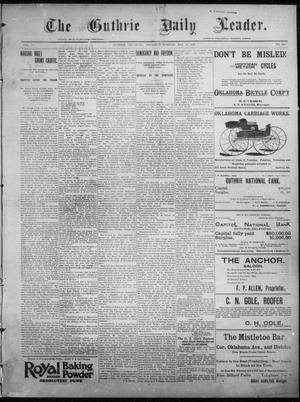 Primary view of object titled 'The Guthrie Daily Leader. (Guthrie, Okla.), Vol. 7, No. 144, Ed. 1, Thursday, May 28, 1896'.