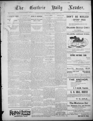 Primary view of object titled 'The Guthrie Daily Leader. (Guthrie, Okla.), Vol. 7, No. 148, Ed. 1, Wednesday, June 3, 1896'.