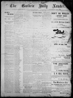 Primary view of object titled 'The Guthrie Daily Leader. (Guthrie, Okla.), Vol. 7, No. 150, Ed. 1, Friday, June 5, 1896'.