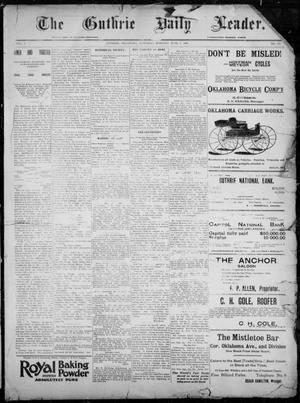 Primary view of object titled 'The Guthrie Daily Leader. (Guthrie, Okla.), Vol. 7, No. 151, Ed. 1, Saturday, June 6, 1896'.