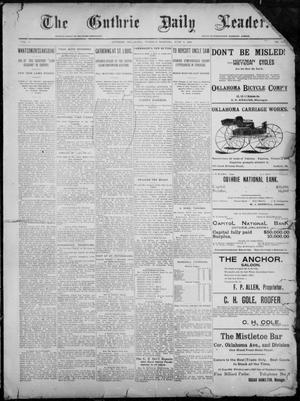 Primary view of object titled 'The Guthrie Daily Leader. (Guthrie, Okla.), Vol. 7, No. 153, Ed. 1, Tuesday, June 9, 1896'.