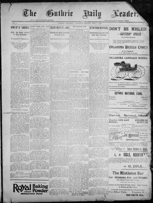 Primary view of object titled 'The Guthrie Daily Leader. (Guthrie, Okla.), Vol. 8, No. 8, Ed. 1, Wednesday, June 10, 1896'.