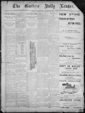 Primary view of object titled 'The Guthrie Daily Leader. (Guthrie, Okla.), Vol. 8, No. 12, Ed. 1, Sunday, June 14, 1896'.