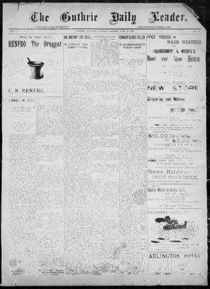 Primary view of object titled 'The Guthrie Daily Leader. (Guthrie, Okla.), Vol. 8, No. 19, Ed. 1, Tuesday, June 23, 1896'.