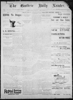 Primary view of object titled 'The Guthrie Daily Leader. (Guthrie, Okla.), Vol. 8, No. 21, Ed. 1, Thursday, June 25, 1896'.