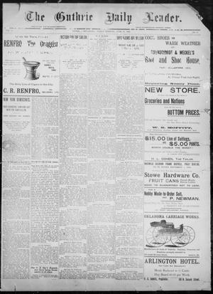 The Guthrie Daily Leader. (Guthrie, Okla.), Vol. 8, No. 22, Ed. 1, Friday, June 26, 1896