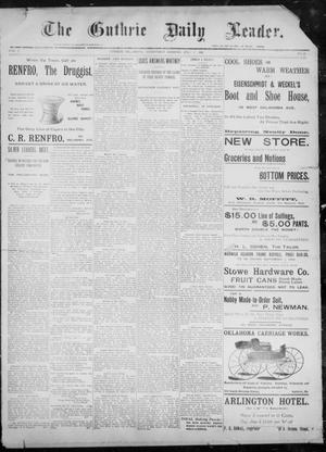 The Guthrie Daily Leader. (Guthrie, Okla.), Vol. 8, No. 26, Ed. 1, Wednesday, July 1, 1896