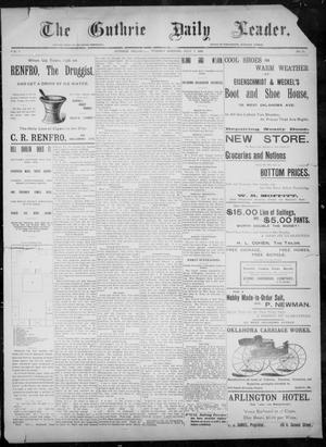 Primary view of object titled 'The Guthrie Daily Leader. (Guthrie, Okla.), Vol. 8, No. 30, Ed. 1, Tuesday, July 7, 1896'.