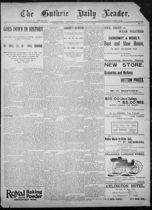 Primary view of object titled 'The Guthrie Daily Leader. (Guthrie, Okla.), Vol. 8, No. 33, Ed. 1, Friday, July 10, 1896'.