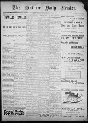 Primary view of object titled 'The Guthrie Daily Leader. (Guthrie, Okla.), Vol. 8, No. 35, Ed. 1, Sunday, July 12, 1896'.