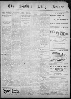 Primary view of object titled 'The Guthrie Daily Leader. (Guthrie, Okla.), Vol. 8, No. 39, Ed. 1, Friday, July 17, 1896'.