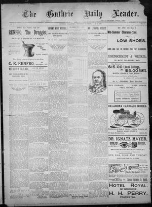 Primary view of object titled 'The Guthrie Daily Leader. (Guthrie, Okla.), Vol. 8, No. 50, Ed. 1, Thursday, July 30, 1896'.