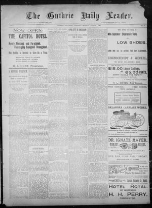 Primary view of object titled 'The Guthrie Daily Leader. (Guthrie, Okla.), Vol. 8, No. 52, Ed. 1, Saturday, August 1, 1896'.